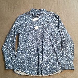 Floral Pattern Button Up Long Sleeve Shirt [Gap]
